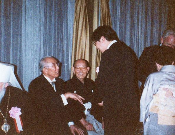庭野開祖、三宅歳雄先生と父